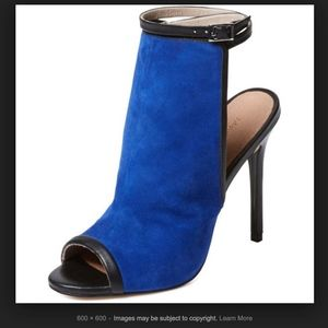 Maiden Lane blue suede heels